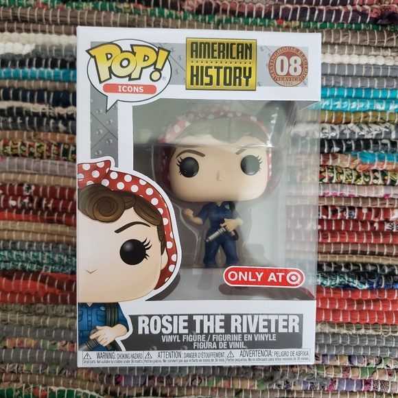 FunKo Free Shipping! American History Vinyl Rosie the Riveter Pop